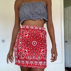 Bandana Print Vintage skirt